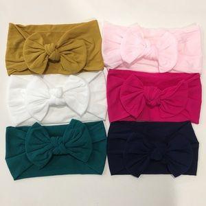 6 Baby Nylon Headband Headwrap